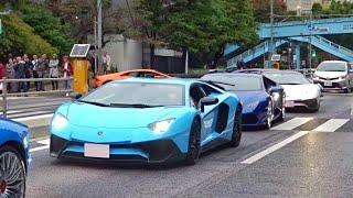 Download 東京がランボルギーニだらけに 加速サウンド/Many Lamborghini in Japan. Aventador Huracan Huracan performante Aventador SV Video