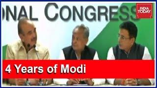 Download Congress Press Meet Targeting Modi Govt On Its 4th Anniversary Video