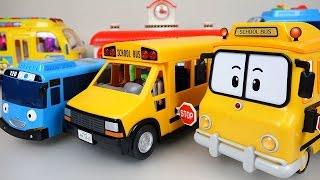Download Wheels On The Bus Nursery Rhymes playing BUS Tayo Poli Pororo toys 로보카폴리 뽀로로 타요 와 버스놀이 장난감 Video