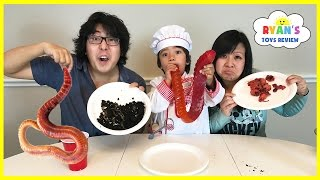 Download Gummy Food vs Real Food challenge Parent Edition! Giant Gummy Worm Gross Real Food Candy Challenge Video