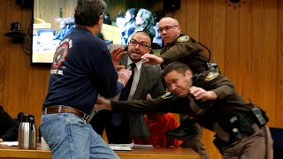 Download Larry Nassar: victim's father attempts attack in court Video