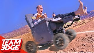 Download High Speed OFF-ROAD Electric Recliner Race!! Video