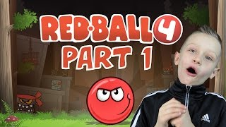 Download RED BALL 4, levels 1-6 - learning the basics, jumping and solving simple maps   KID GAMING Video