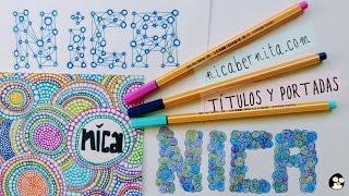 Download Cómo hacer TÍTULOS y PORTADAS para cuadernos y agendas. ¡Decora tus libretas! Video