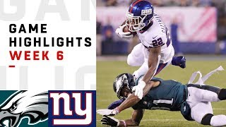 Download Eagles vs. Giants Week 6 Highlights | NFL 2018 Video