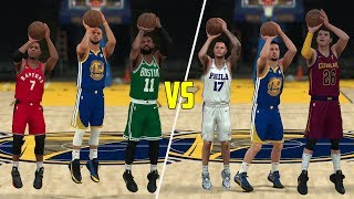 Download Which Position Is Better At Threes? Point Guards or Shooting Guards? NBA 2K18 Challenge! Video