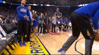 Download Klay Thompson Interrupts Stephen Curry's Pre-Game Routine | 01.12.17 Video