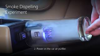 Download Car Air Purifier/ Air Freshener with Dual USB Car Charger - JO-6291 Ionizer Filter Video
