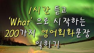Download 1시간 듣고 'What' 으로 시작하는 200가지 영어 기초회화 문장 익히기 | Study English in Korean Video