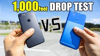 Download Google Pixel vs iPhone 7 - 1,000 FEET DROP TEST!! Video