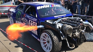 Download Wide Chop Top BMW e30 swap M5 Turbo 1026CP 2STEP Flames Video