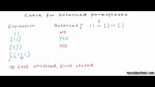 Download Check for balanced parentheses using stack Video