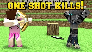 Download Minecraft: ONE SHOT KILLS YOU!!! (WHO WILL SURVIVE!?) Mini-Game Video