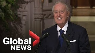 Download Bush funeral: Former Canadian PM Brian Mulroney delivers powerful eulogy Video