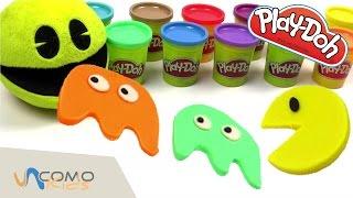 Download Manualidades con Play Doh - Pacman y fantasmas Video