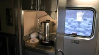 Download tour of Amtrak superliner sleeper car California Zephyr Video