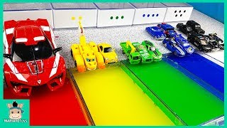 Download Learn Colors With Disney Cars Lightning Mcqueen and Tayo Friends, Nursery Rhymes Song | MariAndToys Video