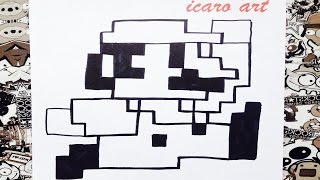 Download Como dibujar a Mario bros pixelado | how to draw mario bros Video
