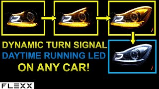 Download INSTALL DRL & DYNAMIC SIGNAL LED STRIP FOR ANY HEADLIGHT Video
