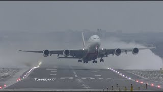 Download Airbus A380 Best ever Takeoff captured on camera Spectacular crosswind departure Video