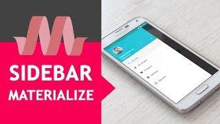Download NAVBAR Material Design (MATERIALIZE) #6 Menú de navegación Video