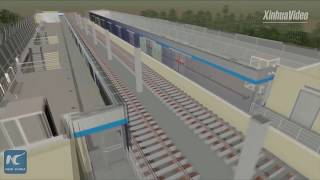 Download Kazakhstan's first light rail project built by Chinese firms Video