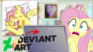 Download Fluttershy Googles Herself AGAIN + DEVIANTART?? 🍉 Video