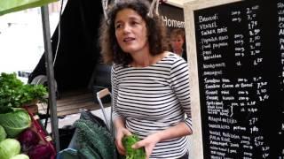 Download Haarlem, Netherlands weekly outdoor food market Video