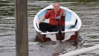Download Electric Outboard Motor 86Lb thrust - 24v 1.1KW approx 2.5hp - Saltwater Ready Video