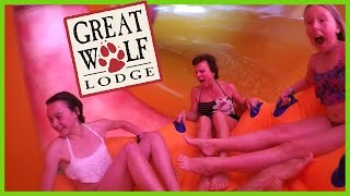 Download 🎢THE BIGGEST AND FASTEST SLIDE AT GREAT WOLF LODGE! Video