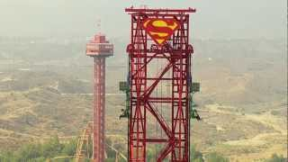Download Lex Luthor's Drop of Doom - Six Flags Magic Mountain Video