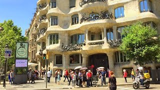 Download BARCELONA WALK | Passeig de Gràcia - Major Shopping Street | Spain Video