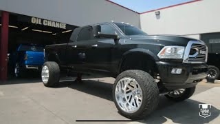 Download 2011 Megacab Cummins spins 26x16 Specialty Forged Wheels & Fuel 40″ Tires with ease! Video