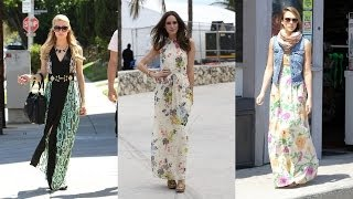 Download 20 Prettiest Celebrity Maxi Dresses Video