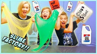 Download WE TURNED OUR HOUSE INTO A SLIME FACTORY!! Learn HOW to MAKE CLOUD SLIME! / SmellyBellyTV Video