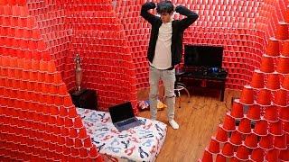 Download BIGGEST INDOOR RED CUP FORT!! Video