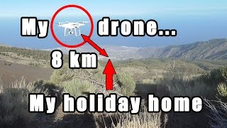 Download CHALLENGE: can I fly my drone 8 km to my holiday house and land it on the terrace? Video