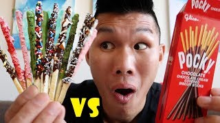 Download HOMEMADE POCKY vs STORE BOUGHT Taste Test || Life After College: Ep. 573 Video