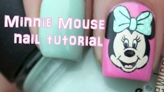 Download Minnie Mouse nail art tutorial Video