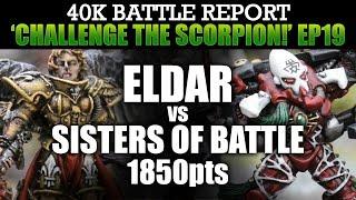 Download Eldar vs Sisters of Battle Warhammer 40K Battle Report CTS19: SAINTS & SPIDERS! 1850pts | HD Video