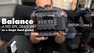 Download Balance a RED EPIC DRAGON on a Single Hand gimbal Zhiyun Crane 2 Video
