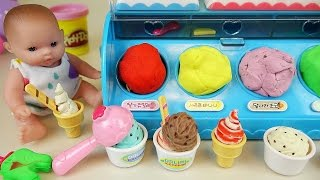 Download Baby Doll Ice cream shop and Play Doh ice cream toys Video
