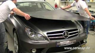 Download Mercedes CLS full Car-Wrap in 3M anthrazit metallic matt Video
