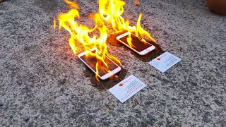 Download Apple iPhone 6 vs Samsung Galaxy S5 ON FIRE Video