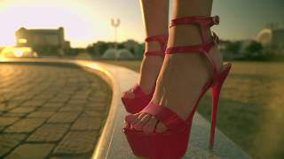 Download Confident Walking in Heels. High Heel pumps walking in City Video