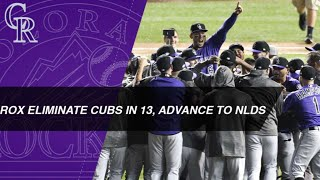 Download Rockies outlast Cubs in 13 innings, advance to NLDS Video