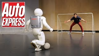 Download Honda's Asimo: the penalty-taking, bar-tending robot Video