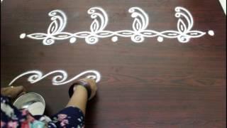 Download freehand rangoli border designs Video