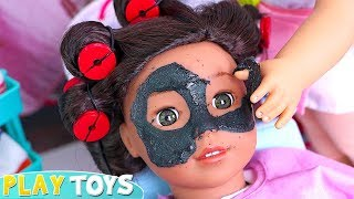 Download How to Make Black Glitter Spa Mask for American Girl Doll with School Glue! 🎀 Video