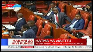 Download Peter Wanyama: We request this house to uphold the law and reject impeachment motion against Waititu Video